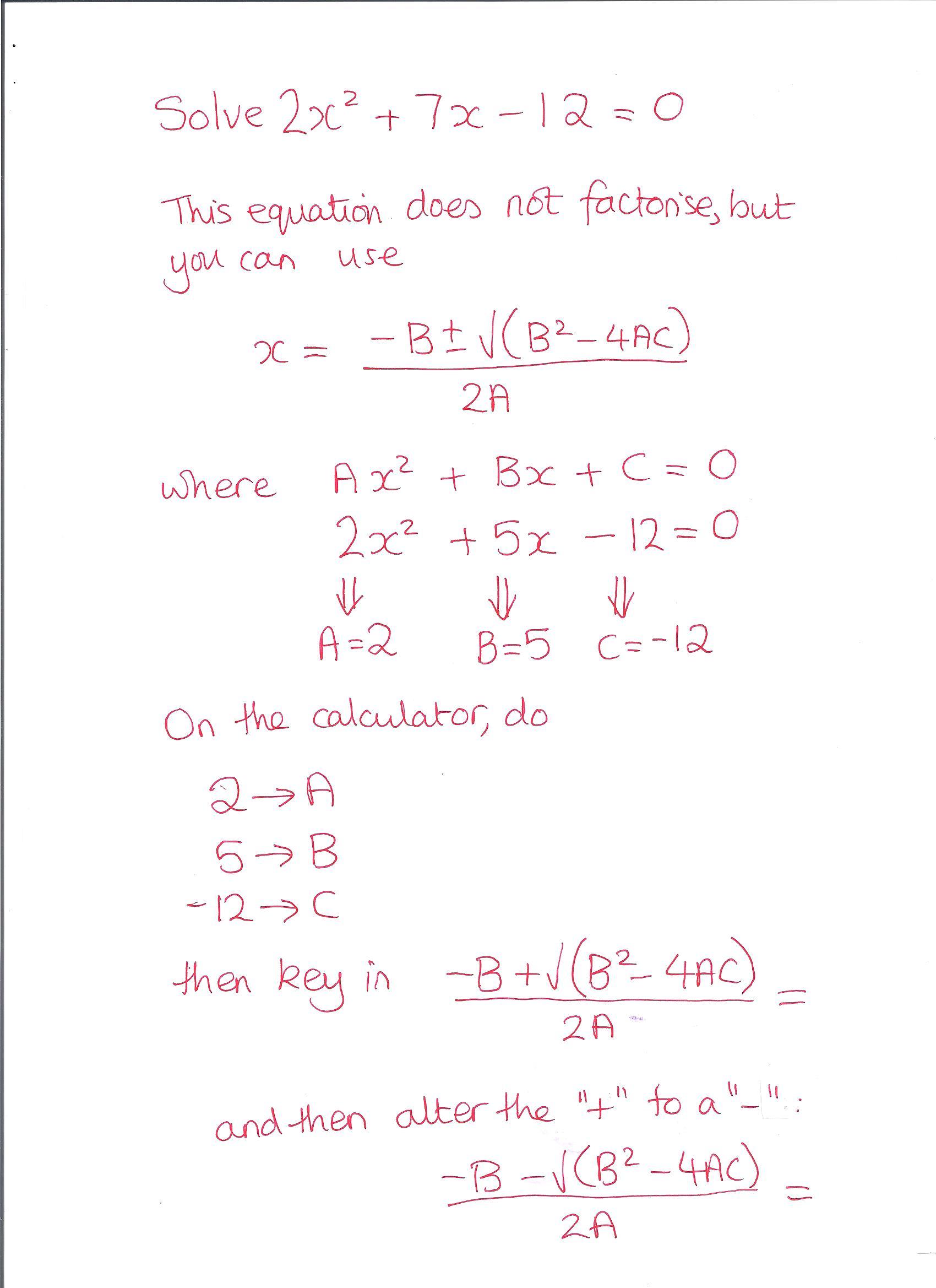 Substitution into a formula calculator method rosalind martin quadratic formula 001 falaconquin