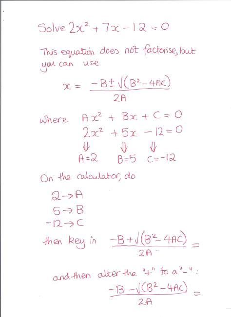 Quadratic Formula 001