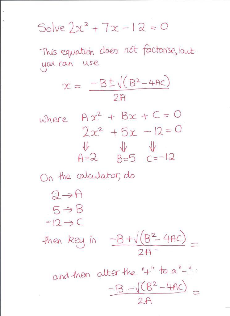 Quadratic Formula 001
