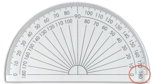 180 degree protractor