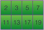PRIME NUMBERS UNDER 20