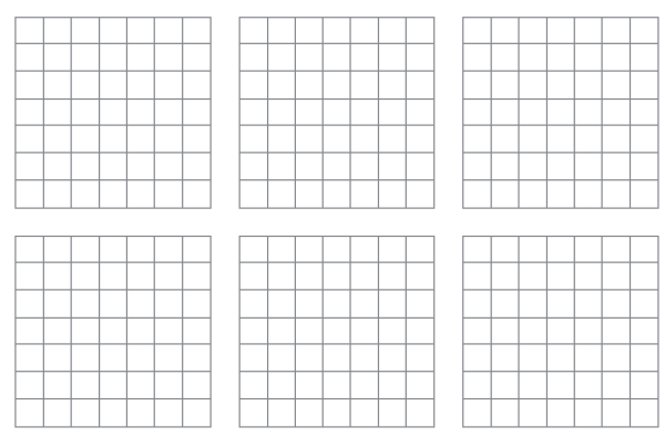 7 by 7 grid